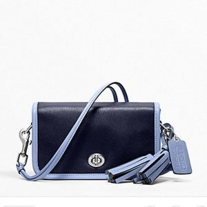 Coach Two tone leather  Penny crossbody bag